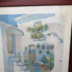 Arte: LAMINA ENMARCADA Y FIRMADA ZAFRILLA , PATIO ANDALUZ . PINTOR LUIS ZAFRILLA DISEÑADOR Y ESCULTOR S XX. Lote 253820820