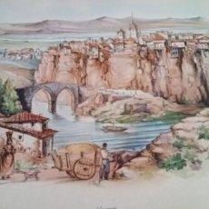 Arte: CUATRO LÁMINAS DE VALENCIA BARCELONA SEVILLA Y CUENCA. Lote 253967915
