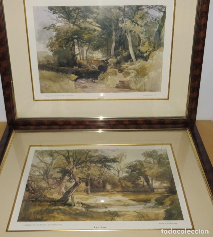 Arte: Par conjunto colección cuadros láminas acuarelas antiguas John Middleton (1827-1856) Norfolk England - Foto 2 - 254821075