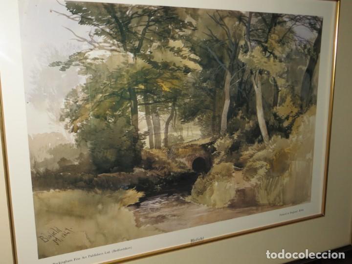 Arte: Par conjunto colección cuadros láminas acuarelas antiguas John Middleton (1827-1856) Norfolk England - Foto 5 - 254821075