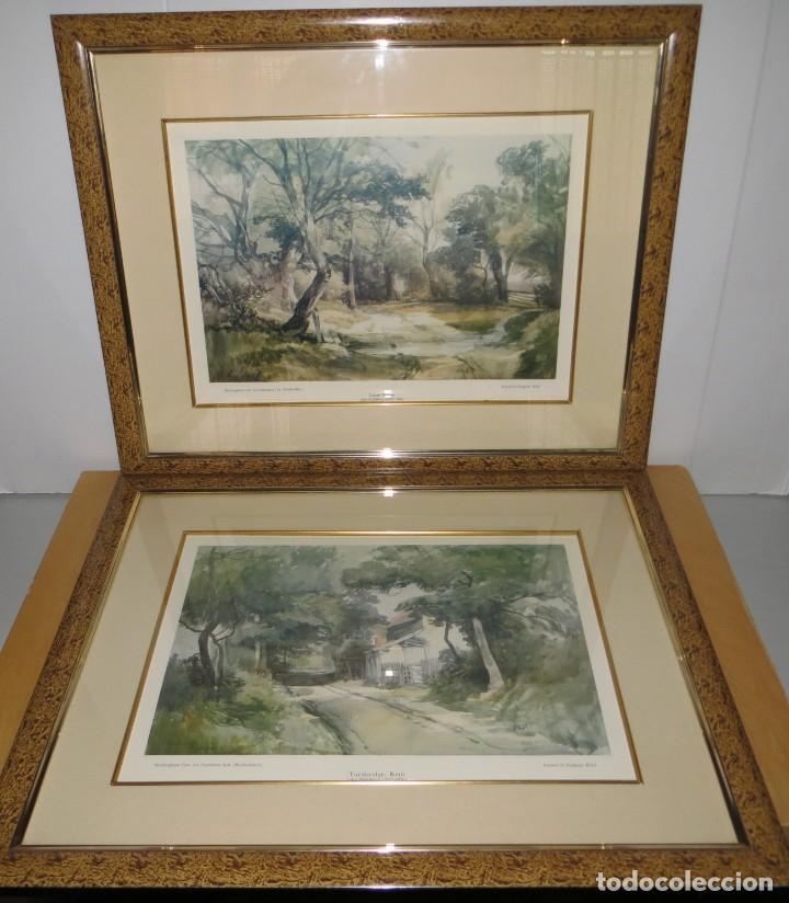 PAR CONJUNTO COLECCIÓN CUADROS LÁMINAS ACUARELAS ANTIGUAS JOHN MIDDLETON (1827-1856) NORFOLK ENGLAND (Arte - Láminas Antiguas)