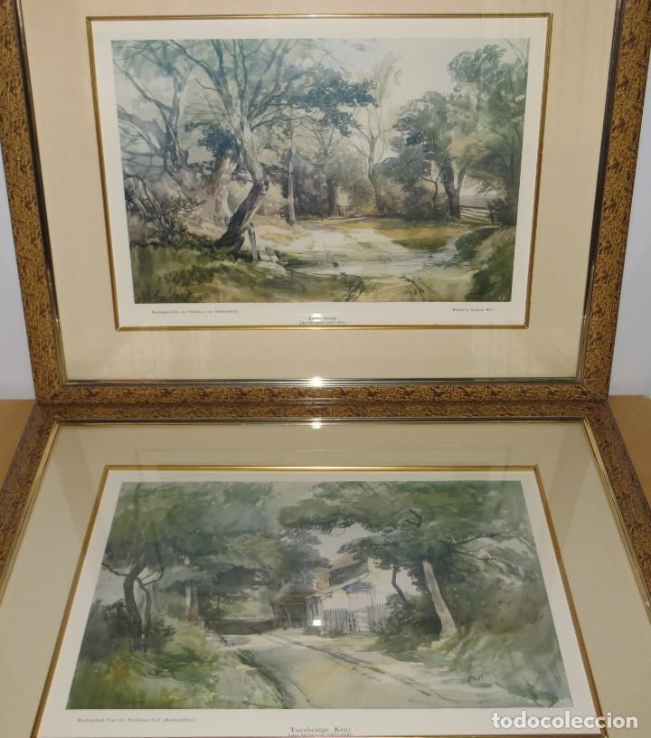 Arte: Par conjunto colección cuadros láminas acuarelas antiguas John Middleton (1827-1856) Norfolk England - Foto 2 - 254821220