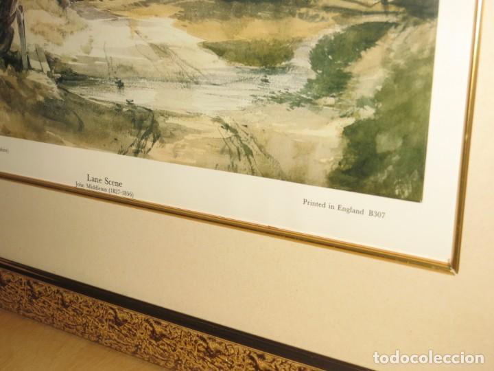 Arte: Par conjunto colección cuadros láminas acuarelas antiguas John Middleton (1827-1856) Norfolk England - Foto 8 - 254821220