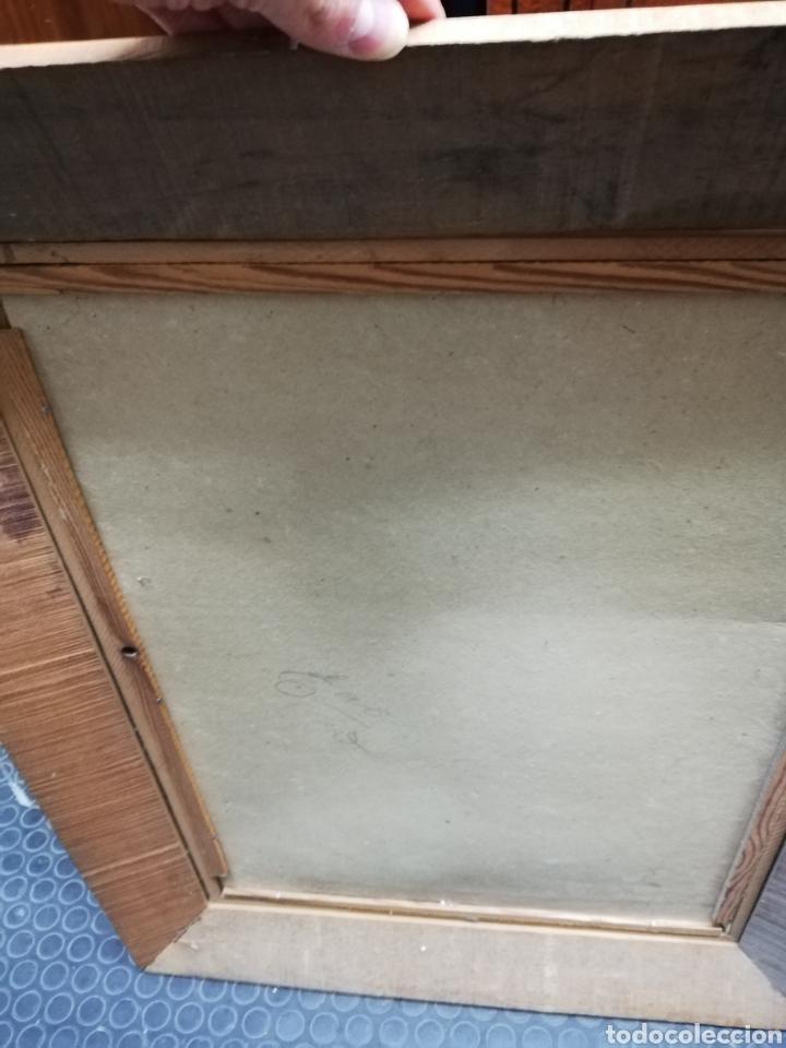 Arte: Pareja de marcos de madera con antiguas láminas de cartón . - Foto 7 - 254914750