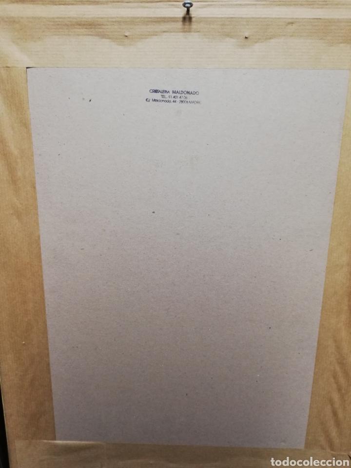 Arte: Antigua lámina enmarcada. Señora escribiente. - Foto 2 - 254915010