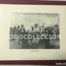 Arte: LAMINA ENTIERRO CAMPESINO,LEON, DIBUJO DE GUSTAVO DORE, EDITADO POR EL DIARIO DE LEON, 21 CM X 30 CM. Lote 255024205