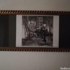 Arte: CUADRO CON LAMINA IMAGEN DE PARIS ENMARCADO EN MADERA CON CRISTAL. Lote 257292615