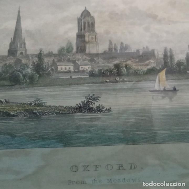 Arte: pequeño grabado, paisaje Oxford del artista W. Westal - Foto 6 - 257881580