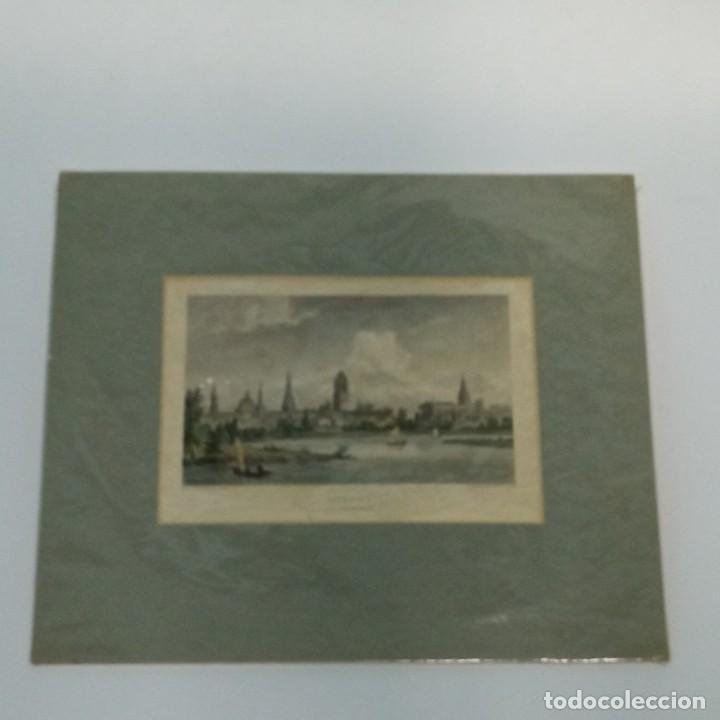Arte: pequeño grabado, paisaje Oxford del artista W. Westal - Foto 7 - 257881580