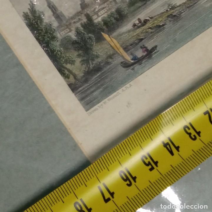 Arte: pequeño grabado, paisaje Oxford del artista W. Westal - Foto 10 - 257881580