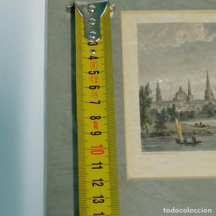 Arte: pequeño grabado, paisaje Oxford del artista W. Westal - Foto 11 - 257881580