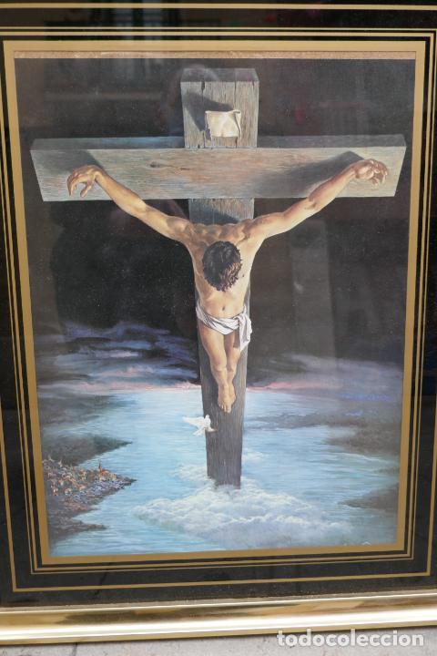 Arte: Cristo de Dalí / lámina excelentemente enmarcada - Foto 2 - 258147535