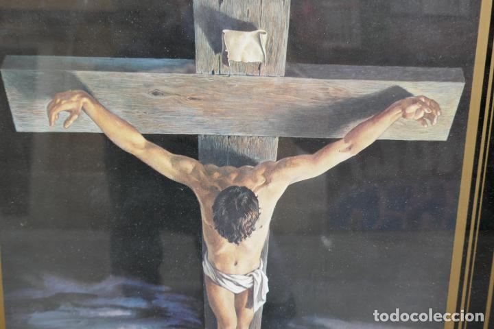 Arte: Cristo de Dalí / lámina excelentemente enmarcada - Foto 3 - 258147535
