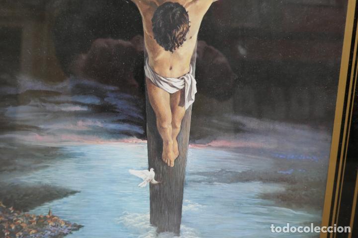 Arte: Cristo de Dalí / lámina excelentemente enmarcada - Foto 4 - 258147535