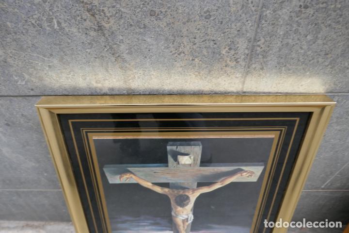Arte: Cristo de Dalí / lámina excelentemente enmarcada - Foto 5 - 258147535