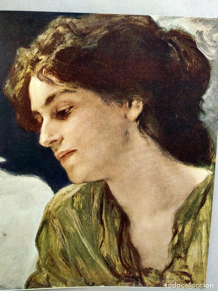 Arte: Estudio de cabeza de Friedrich August von Kaulbach, de Meister der Gegenwart 1904, nº 2 - Foto 2 - 261251095