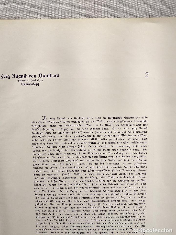Arte: Estudio de cabeza de Friedrich August von Kaulbach, de Meister der Gegenwart 1904, nº 2 - Foto 3 - 261251095
