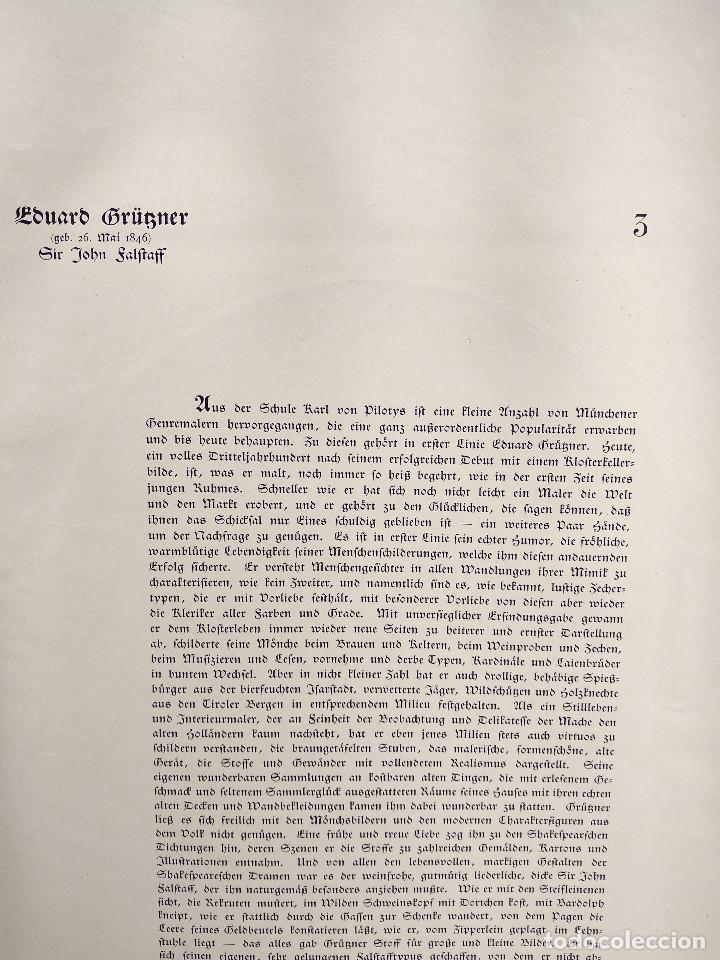 Arte: Retrato de Eduard von Grützner, de Meister der Gegenwart 1904, nº 3 - Foto 3 - 261251525