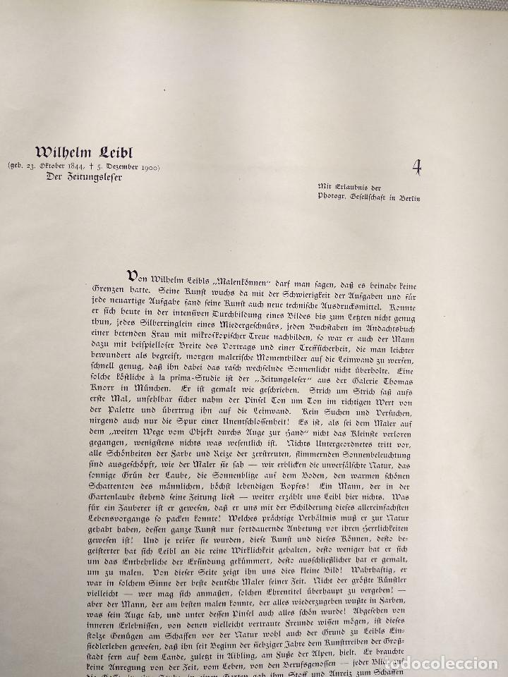 Arte: El lector de Wilhelm Maria Hubertus Leibl, de Meister der Gegenwart 1904, nº 4 - Foto 3 - 261251900