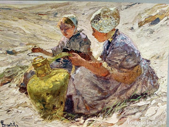 Arte: Chicas en las dunas de Hans von Bartels, de Meister der Gegenwart 1904, nº 5 - Foto 2 - 261252705