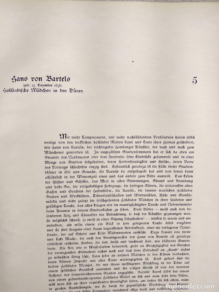 Arte: Chicas en las dunas de Hans von Bartels, de Meister der Gegenwart 1904, nº 5 - Foto 3 - 261252705
