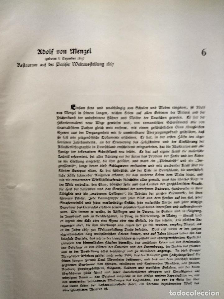 Arte: Restaurante pairsino de Adolph von Menzel, de Meister der Gegenwart 1904, nº 6 - Foto 3 - 261253250