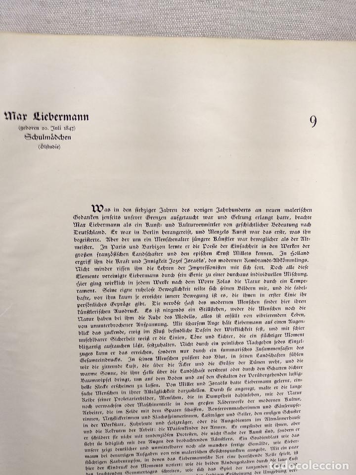 Arte: Niñas de escuela de Max Liebermann, de Meister der Gegenwart 1904, nº 9 - Foto 3 - 261255310