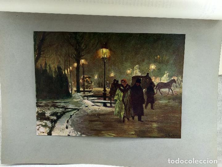 INVIERNO EN BERLIN DE FRANZ SKARBINA, DE MEISTER DER GEGENWART 1904, Nº 10 (Arte - Láminas Antiguas)