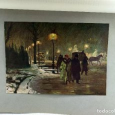 Arte: INVIERNO EN BERLIN DE FRANZ SKARBINA, DE MEISTER DER GEGENWART 1904, Nº 10. Lote 261256360