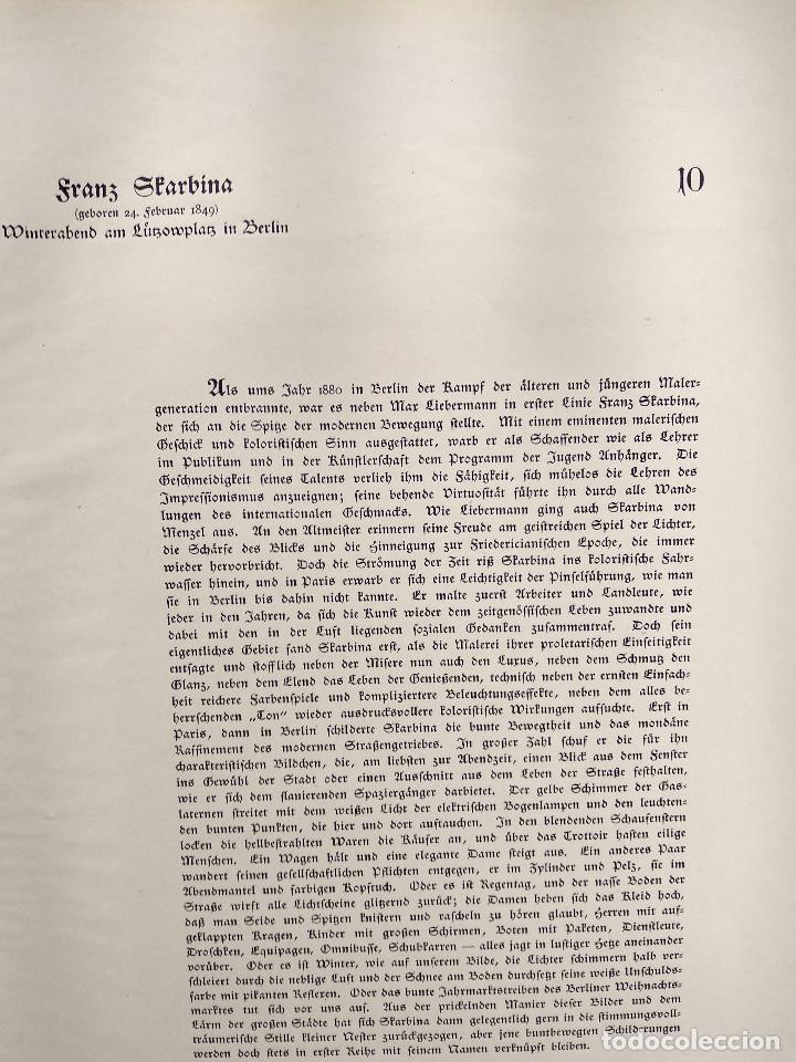Arte: Invierno en Berlin de Franz Skarbina, de Meister der Gegenwart 1904, nº 10 - Foto 3 - 261256360