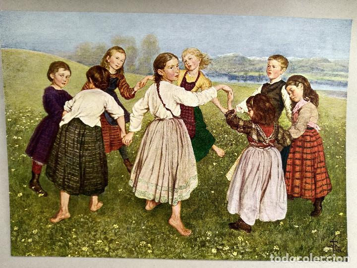 Arte: Baile infantil de Hans Thoma, de Meister der Gegenwart 1904, nº 13 - Foto 2 - 261258270