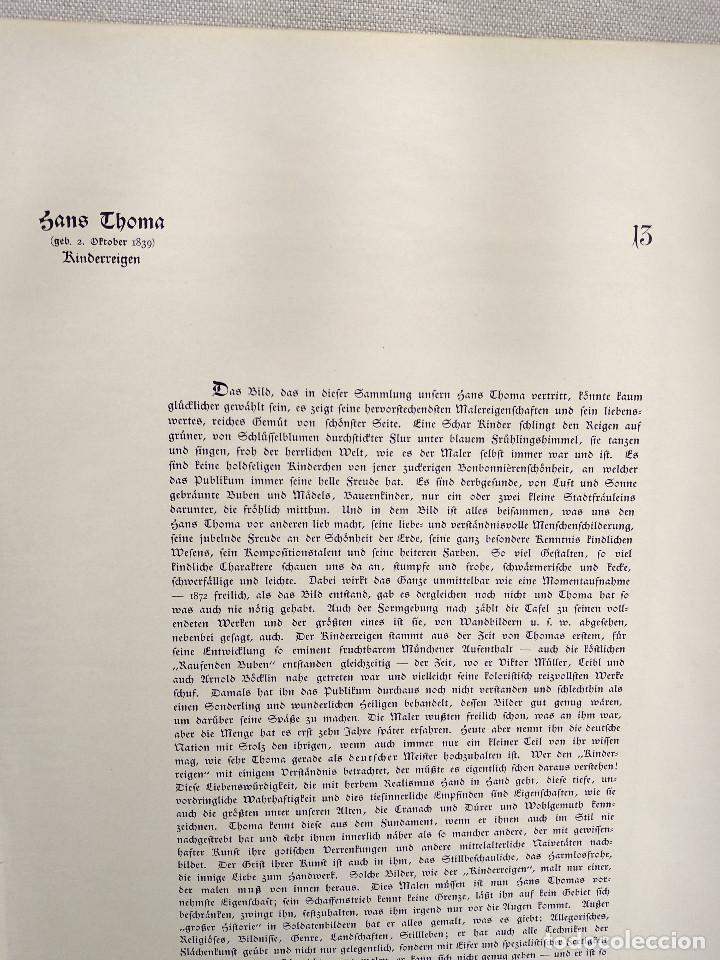 Arte: Baile infantil de Hans Thoma, de Meister der Gegenwart 1904, nº 13 - Foto 3 - 261258270