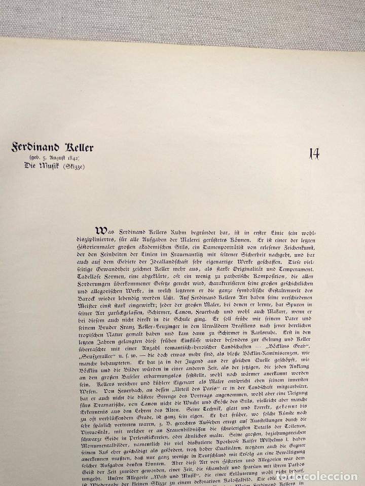 Arte: La musica de Ferdinand Keller, de Meister der Gegenwart 1904, nº 14 - Foto 3 - 261259785