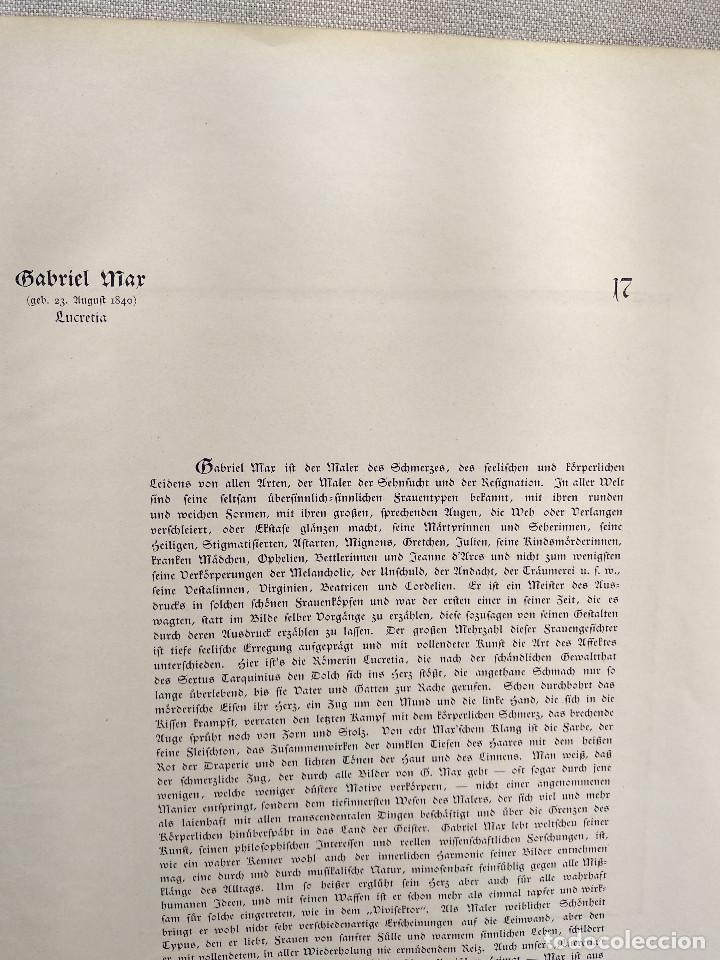 Arte: Lucrecia de Gabriel Max, de Meister der Gegenwart 1904, nº 17 - Foto 3 - 261260715