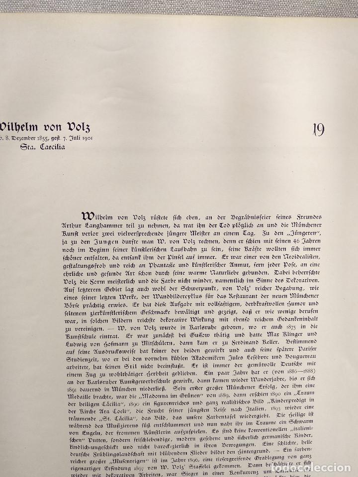 Arte: Santa Cecilia de Wilhelm Volz , de Meister der Gegenwart 1904, nº 19, musica - Foto 3 - 261262120