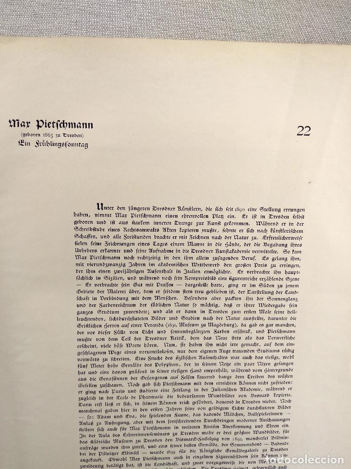 Arte: Domingo de primavera de Max Pietschmann, de Meister der Gegenwart 1904, nº 22 - Foto 3 - 261263725