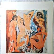 Arte: LAMINA PABLO PICASSO, LES DEMOISELLES D'AVIGNON , C.D.D.C. 1988 , 32 X 25 CMS , CIRCULO DE LECTORES. Lote 262195620