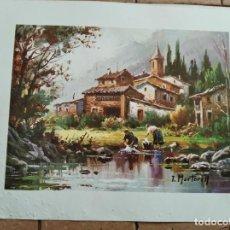 Arte: SERIE GABRIEL Nº 803 - AÑO 1979 - PINTOR T.MARTORELL - LAMINA MEDIDAS 23,5 X 29,5 CM. Lote 262218265