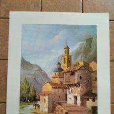 Arte: SERIE GABRIEL Nº 565 - AÑO 1996 - PINTOR L.LOPEZ - LAMINA MEDIDAS 23,5 X 29,5 CM. Lote 262218565