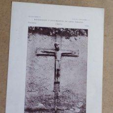 Arte: HIX – REGIÓN PIRENAICA- CRISTO ROMÁNICO, TALLADO EN MADERA, EXISTENTE EN LA IGLESIA PARROQUIAL. Lote 263091065