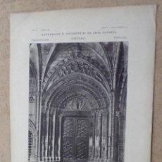 Arte: BARCELONA - CATEDRAL PUERTA ROMÁNICA DEL CLAUSTRO. Lote 263091320