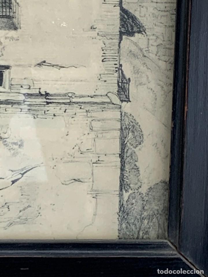 Arte: ESTAMPACION IMPRESION LITOGRAFICA VISTA GRANADA MUJERES BALCON LAMINA 32X26CMS - Foto 3 - 264125235