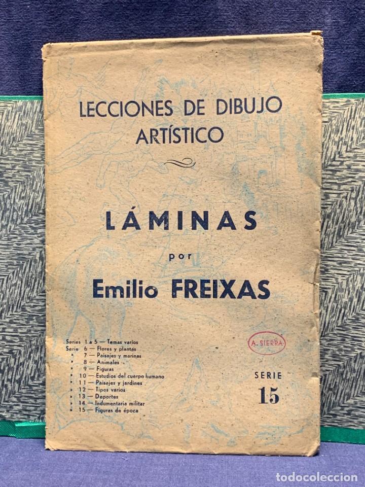 Arte: 7 SERIES LAMINAS DIBUJO ARTISTICO EMILIO FREIXAS LECCIONES DIBUJO ARTISTICO 27X18CMS - Foto 17 - 265161059
