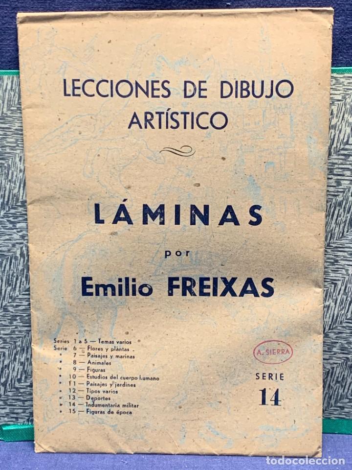 Arte: 7 SERIES LAMINAS DIBUJO ARTISTICO EMILIO FREIXAS LECCIONES DIBUJO ARTISTICO 27X18CMS - Foto 33 - 265161059