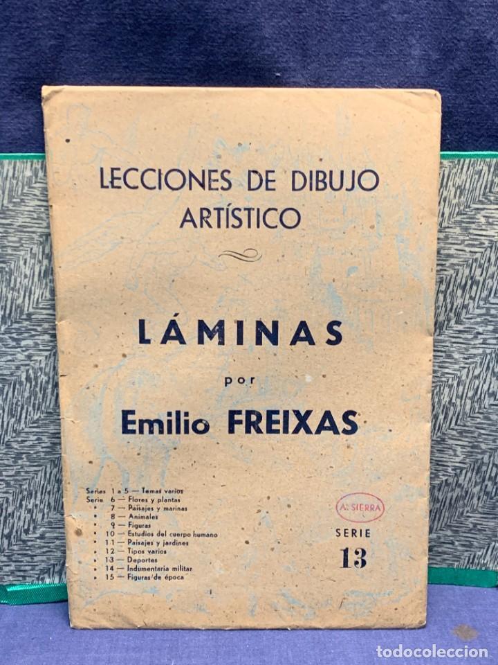 Arte: 7 SERIES LAMINAS DIBUJO ARTISTICO EMILIO FREIXAS LECCIONES DIBUJO ARTISTICO 27X18CMS - Foto 49 - 265161059
