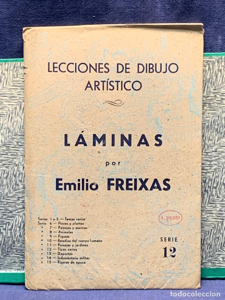 Arte: 7 SERIES LAMINAS DIBUJO ARTISTICO EMILIO FREIXAS LECCIONES DIBUJO ARTISTICO 27X18CMS - Foto 75 - 265161059