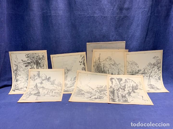 Arte: 7 SERIES LAMINAS DIBUJO ARTISTICO EMILIO FREIXAS LECCIONES DIBUJO ARTISTICO 27X18CMS - Foto 91 - 265161059