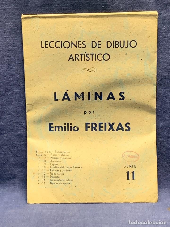 Arte: 7 SERIES LAMINAS DIBUJO ARTISTICO EMILIO FREIXAS LECCIONES DIBUJO ARTISTICO 27X18CMS - Foto 94 - 265161059