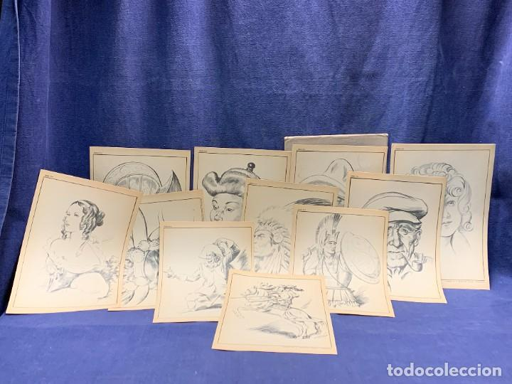 Arte: 7 SERIES LAMINAS DIBUJO ARTISTICO EMILIO FREIXAS LECCIONES DIBUJO ARTISTICO 27X18CMS - Foto 121 - 265161059