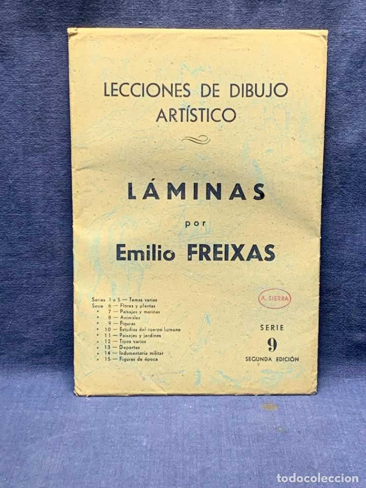 Arte: 7 SERIES LAMINAS DIBUJO ARTISTICO EMILIO FREIXAS LECCIONES DIBUJO ARTISTICO 27X18CMS - Foto 127 - 265161059